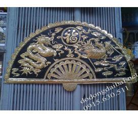Tranh quạt Mã Đáo thành công, tranh quạt rồng phượng Đồ Đồng Mỹ Nghệ Tranh đồng Mã