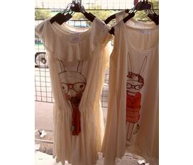 Váy xinh cotton liền xách tay Thái Lan
