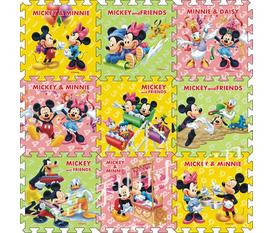 09 Miếng Thảm Mút Hình Gấu Pooh Và Chuột Mickey