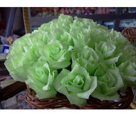 Hoa hồng giấy theo yêu cầu đủ sắc mầu cho bạn chọn lựa