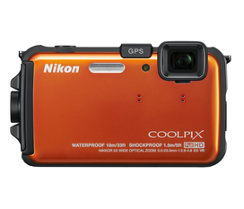 Máy ảnh chống thấm Nikon COOLPIX AW100 16 MP CMOS Waterproof Digital Camera with GPS and Full HD 1080p Video
