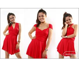 Thanh lí 1 đầm mặc 21 kiểu màu đỏ mới 100% nhé