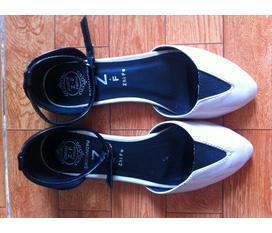 Thanh lý giày hoa 5cm, bệt mũi cap toe nude, sandal Berskha ...very đẹp :