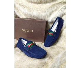 Giầy lười Gucci fake 1 da lộn xịn cực chuẩn, lên dáng đẹp, giá chỉ 700k rẻ nhất mạng