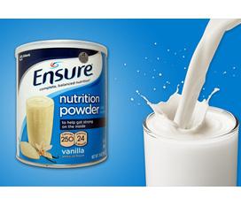 Sữa bột Ensure 397g Mỹ giá chỉ có 285n/hộp
