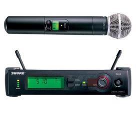 Shure SLX4/Beta58A Micro không dây cao cấp, chất lượng tuyệt hay, độ ổn định cao, chức năng thay đổi tần số cao cấp