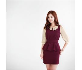 Dịu dàng sắc thu với váy liền thân Hàn Quốc
