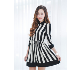 Váy liền thân Hàn Quốc Ngọt ngào đón thu