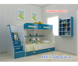 Giường trẻ em 2 tầng tiện lợi, thỏa trí tưởng tượng của bé 100% gỗ tự nhiên