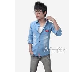 Áo Jeans nam, ao sơ mi jeans nam hàn quốc Ấn Tượng shop