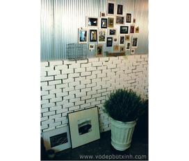 Bộ khung ảnh giấy kẹp gỗ nhiều màu 7 chiếc cỡ lớn