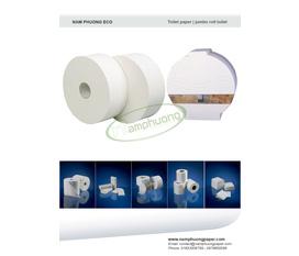 Giấy vệ sinh cuộn lớn, giấy công nghiệp.