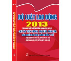 Sách Bộ Luật lao động 2012, 2013 mới nhất