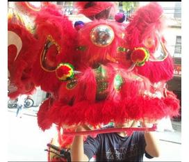 Đầu lân kim sa đẹp, đầu lân lông cừu, chuyên mua bán các đạo cụ biểu diễn lân sư, múa sư tử tại ninh bình, thanh hóa