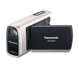 Máy quay Panasonic SDR SW20 Water, Shock Dustproof Compact SD Camcorder with 10x Optical Zoom, Records to SD Memory
