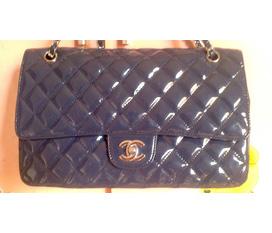 Túi Chanel fake 1 xanh coban size 32 xinh lắm ạ