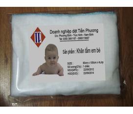 Khăn sữa, khăn tắm xô cho bé hàng gia công Việt Nam 100% cotton