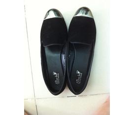 Cần bán giày bệt da lộn mũi ánh bạc siêu chất