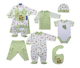 Đồ cho bé trai Hudson Baby 6 Piece Rainforest Layette Set