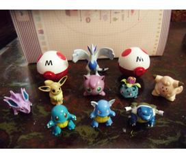 Đồ chơi chào trung thu. Bộ mô hình pokemon hơn 100 con siêu đẹp, bờm nơ, mặt nạ trung thu, balo thỏ metoo siêu rẻ.