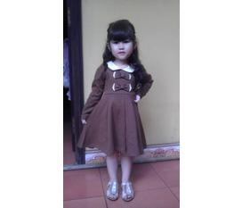 Váy thời trang thu đông cho bé gái