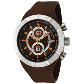 Stuhrling Original Men\s Sportsman Florio Chronograph Brown Silicone mua sắm online Hàng hiệu