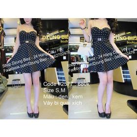 váy chấm bj dây xích mua sắm online Thời trang Nữ