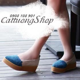 Giày búp bê bánh mì phối màu mua sắm online Giày dép nữ