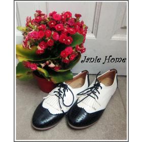 Giày oxford đen trắng mua sắm online Giày dép nữ