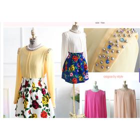 Áo sơmi đính cườm công sở mua sắm online Dịch vụ thời trang