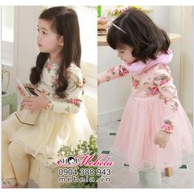 V524 Váy hoa công chúa xinh xắn cho bé 16-18 kg mua sắm online Thời trang, Phụ kiện