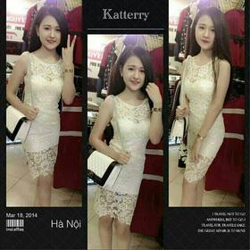 váy ren ôm sát nách ren nổi có màu vàng,trắng,đỏ giá:330k. mua sắm online Thời trang Nữ