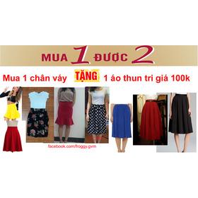 KM T9/2014: Mua 1 chân váy từ 220k trở lên tặng 1 áo thun trị giá 100k mua sắm online Thời trang Nữ