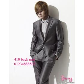 vest 1 khuy màu ghi sáng mua sắm online Thời trang Nam