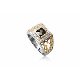 TrangsucLUNA Nhẫn nam đính kim cương nhân tạo xi phủ vàng trắng vàng tây 18k mua sắm online Phụ kiện nam
