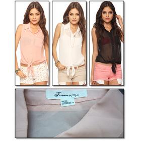 Sơ mi sát nách F21/ Timing mua sắm online Thời trang Nữ