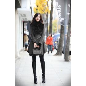 áo dạ cổ lông cáo tự nhiên 100% mua sắm online Thời trang Nữ