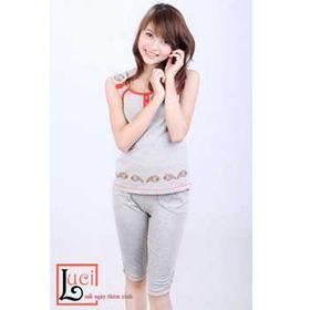Đồ bộ mặc nhà đính hạt trước-LAMY007 mua sắm online Thời trang Nữ