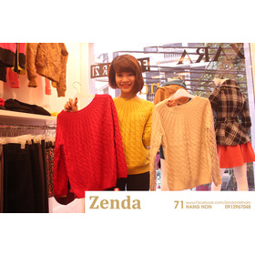 Áo len vặn thừng mua sắm online Thời trang Nữ