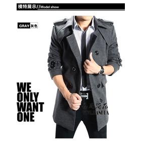 măng tô dạ (đen,xám) lót lông+50k mua sắm online Thời trang Nam
