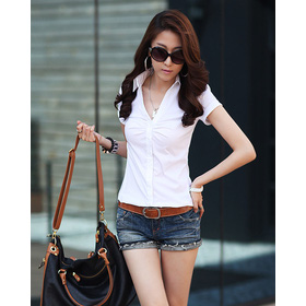 Áo phông cổ V. Có 2 màu mua sắm online Thời trang Nữ