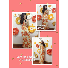 Maxi hoa cam mua sắm online Thời trang Nữ