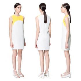 TWO-TONE COMBINATION DRESS mua sắm online Hàng hiệu