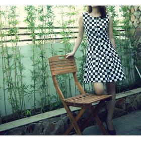 Váy liền họa tiết bàn cờ Klassy mua sắm online Thời trang Nữ