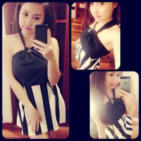 áo thun cổ yếm đăng thư .giá:120k.lh:0944741588 mua sắm online Thời trang Nữ