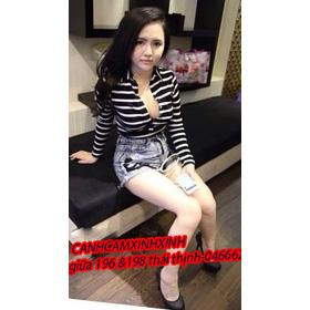 a1 áo thun kẻ ngang lucy trần 120k sale 90k mua sắm online Thời trang Nữ