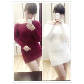Váy len lông mua sắm online Thời trang Nữ