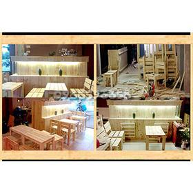 Quầy gỗ thông Pallet Cafe. mua sắm online Dịch vụ tổng hợp