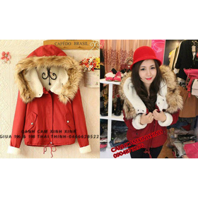 Khoác mũ lông gấu mua sắm online Thời trang Nữ