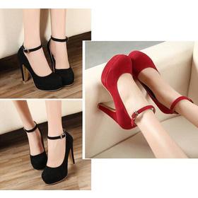 Giày cao gót bít mũi dây cổ chân - 260k mua sắm online Giày dép nữ